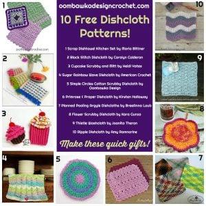10 Free Dishcloth Patterns