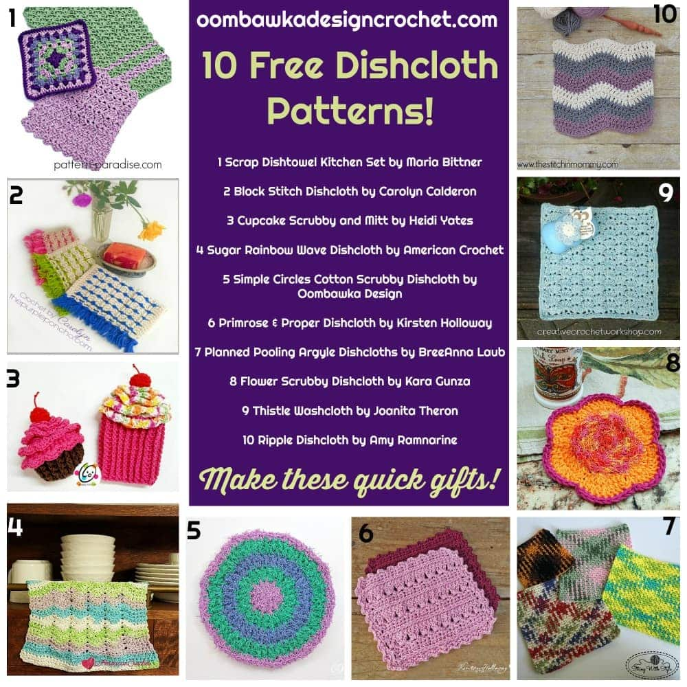10 Free Dishcloth Patterns