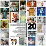 20 New Free Crochet Patterns for Toys!