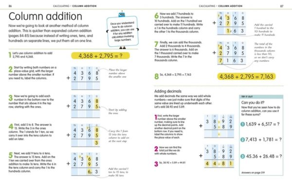 Column Addition - How to Be Good at Math - DK