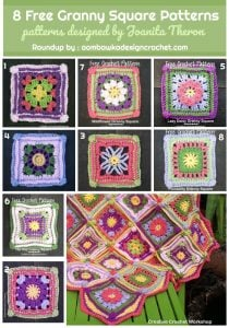 8 Free Granny Square Patterns Collection