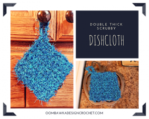 Double Thick Scrubby Dishcloth