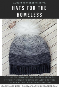 Hats for the Homeless Charity of the Month August Presented by The Stitchin Mommy Free Crochet Patterns