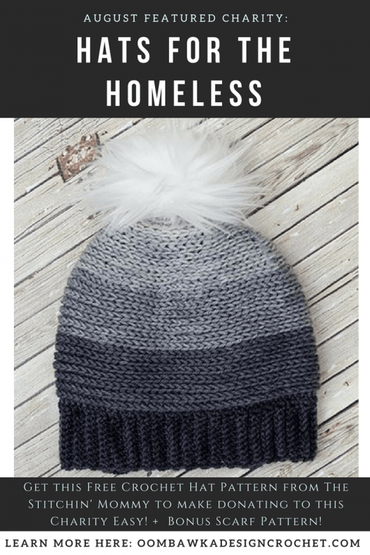 Augusts Featured Charity Hats For The Homeless Oombawka Design