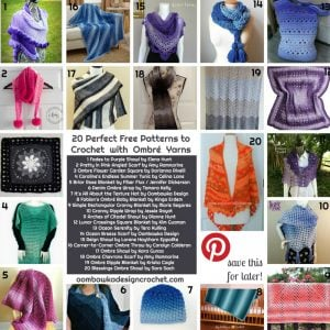 20 Perfect Free Patterns to Crochet with Ombré Yarn