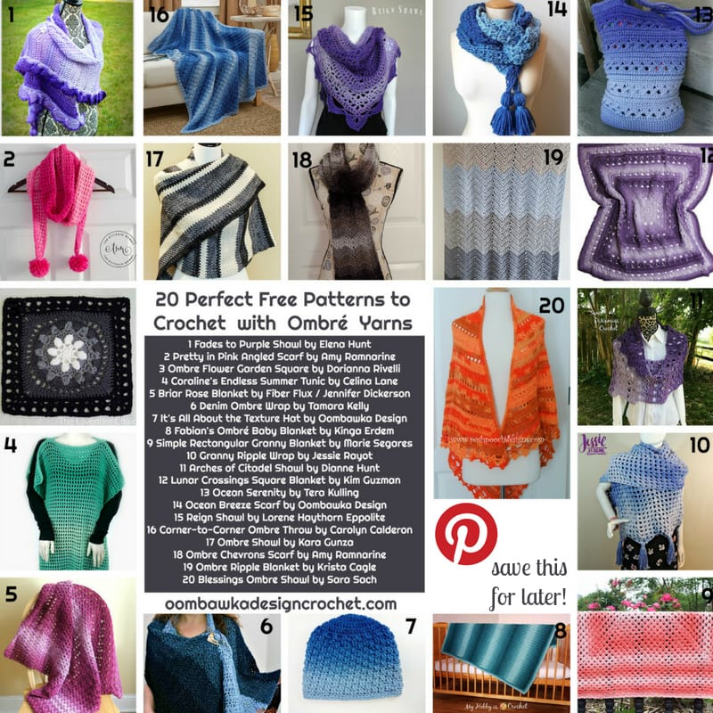 20 Perfect Free Patterns to Crochet with Ombre Yarn