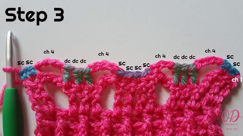 STEP 3 - POSH PINK SCARF - ODC