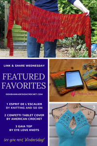 This Week We Feature Knitting and so on American Crochet and Eye Love Knots