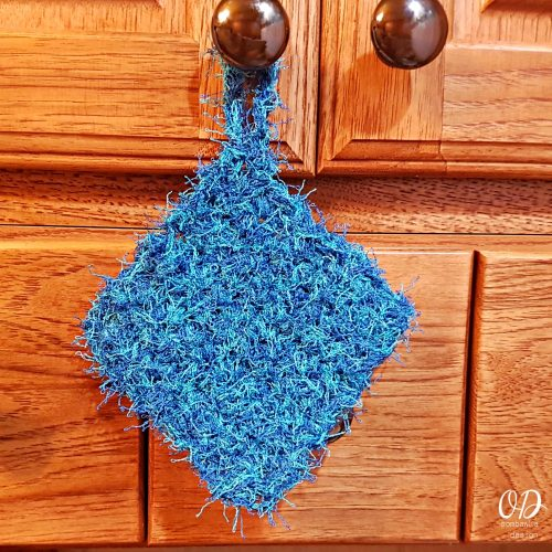 Blue Double Thick Scrubby Dishcloth