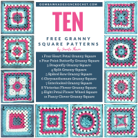 Ten Free Crochet Granny Square Patterns