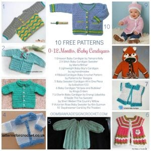 0 to 12 Months Baby Cardigans 10 Free Patterns OombawkaDesignCrochet