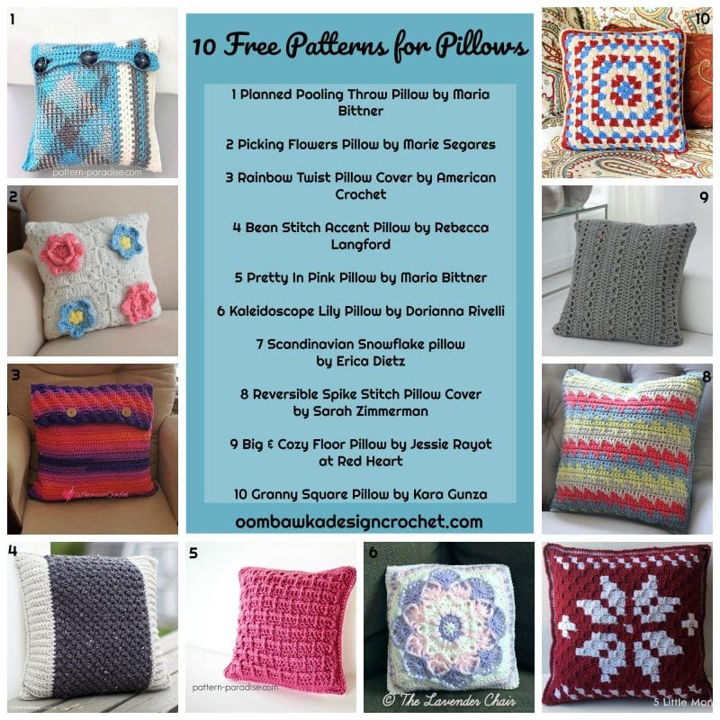 10 Free Patterns for Pillows
