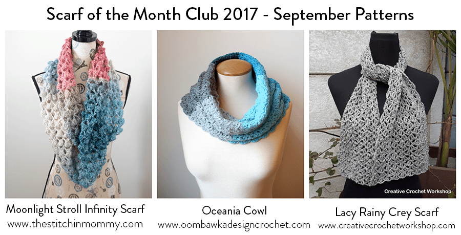 September Scarf of the Month Club #scarfofthemonthclub2017