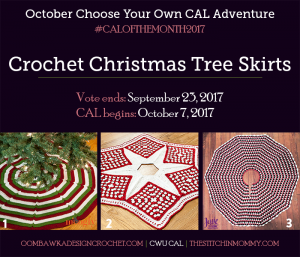 VOTE: Christmas Tree Skirt CAL – October's #CALOFTHEMONTH2017