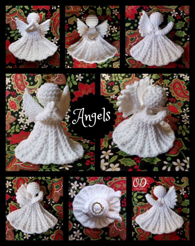 Crochet Angel Free Patterns & Tutorials • DIY How To | 861x681
