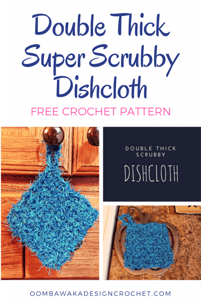 Double Thick Super Scrubby Dishcloth Pattern Oombawka Design Crochet