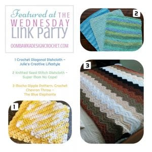 Featured at The Wednesday Link Party Free Patterns