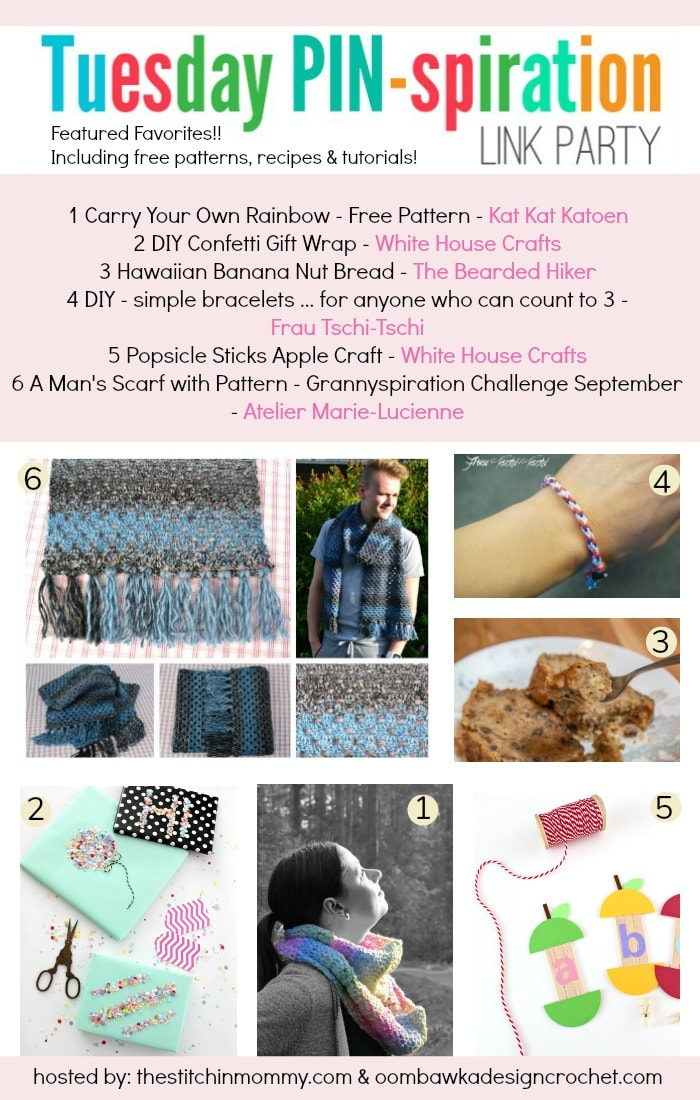 Featuring Kat Kat Katoen, White House Crafts, The Bearded Hiker, Frau TschiTschi and Atelier MarieLucienne at this weeks Tuesday PINspiration Link Party