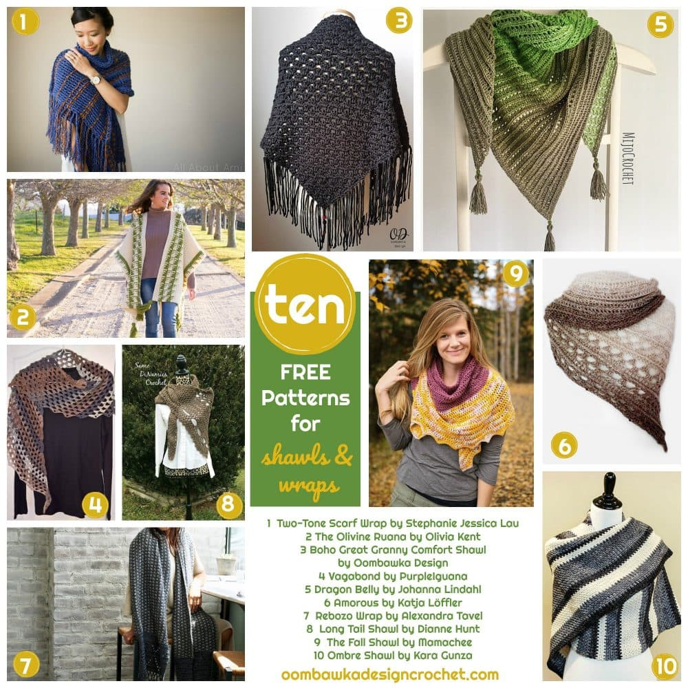 Free Patterns for Shawls and Wraps