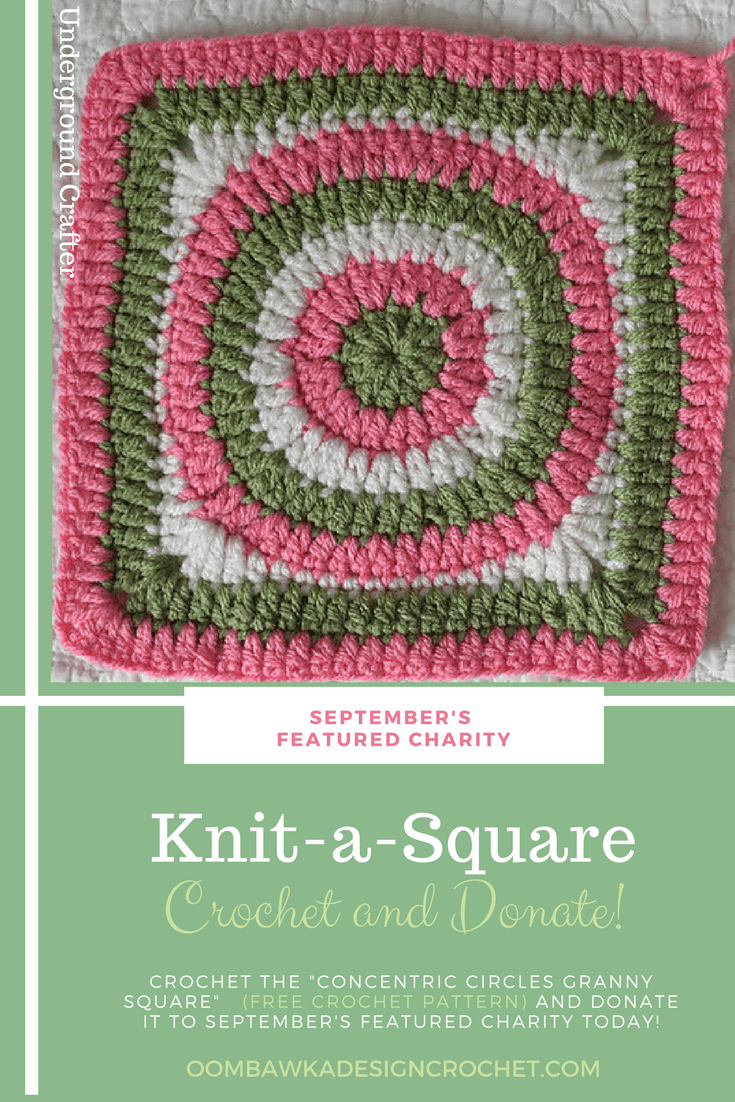 Knit a Square Featured Charity of the Month 2017 September presented by Underground Crafter at ODC