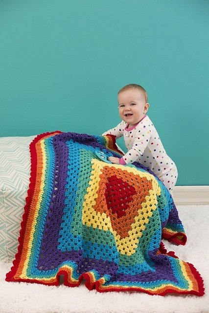 Radiant Rainbow Blanket