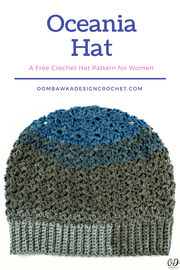 Oceania Hat Free Pattern for Women Oombawka Design Crochet