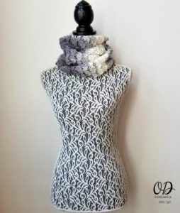 Shades of Grey Scarf Pattern - Oombawka Design