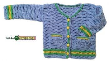 Daydreamer Baby Cardi - Stitches n Scraps