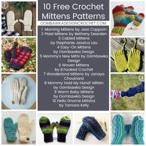 10 Free Crochet Mitten Patterns
