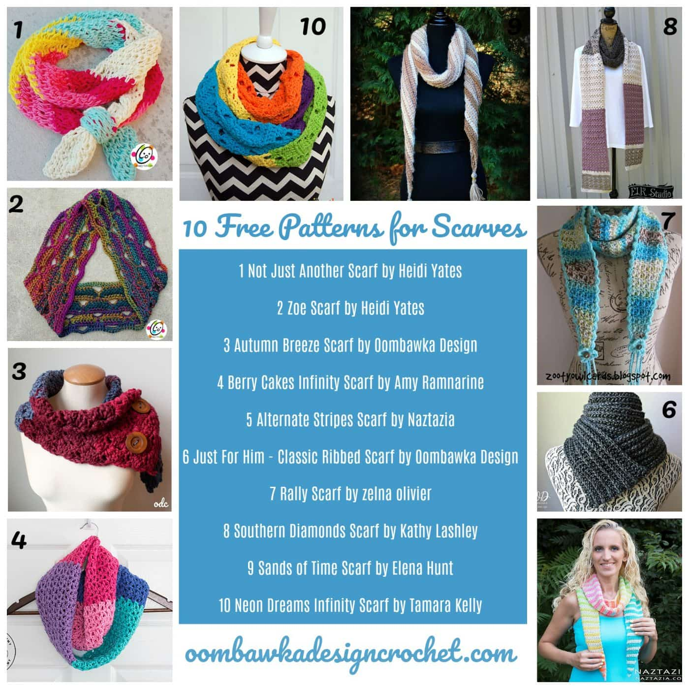 10 Free Crochet Scarf Patterns Oombawka Design Crochet ODC