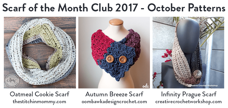Scarf of the Month Club 2017 Free Pattern