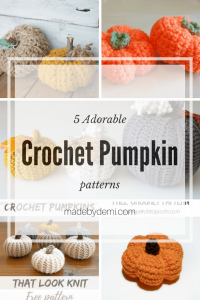5 Adorable Crochet Pumpkin Patterns Featured at The Wednesday Link Party
