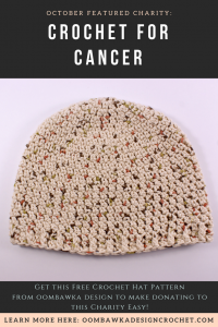 Crochet for Cancer – Featured Charity of the Month October 2017