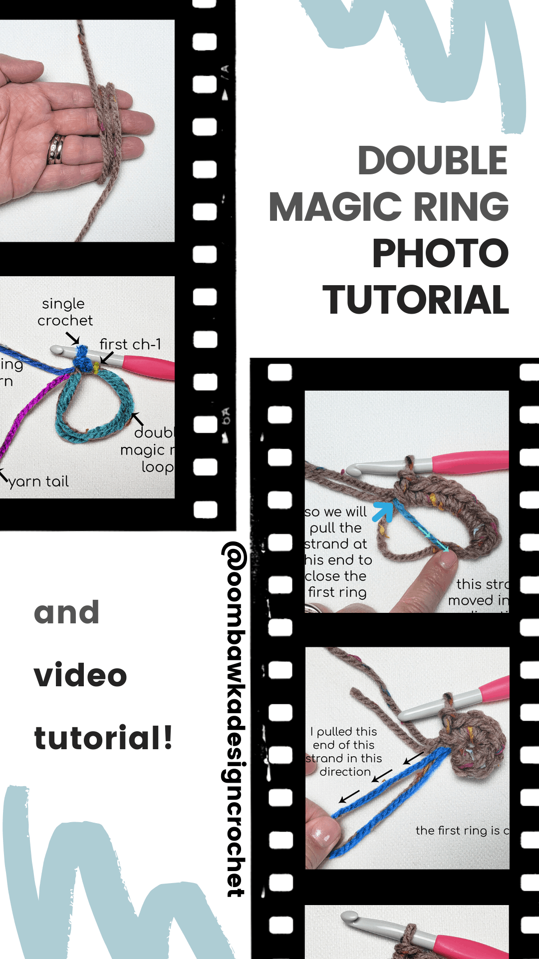 Try the Double Magic Ring! Follow these simple steps and master the double magic ring. You will never want to start a project in the round any other way! This video tutorial will walk you through the process in less than 3 minutes! I think you are going to love this method of beginning your projects in the round.