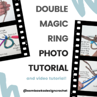 Double Magic Ring Photo Tutorial and Video Tutorial