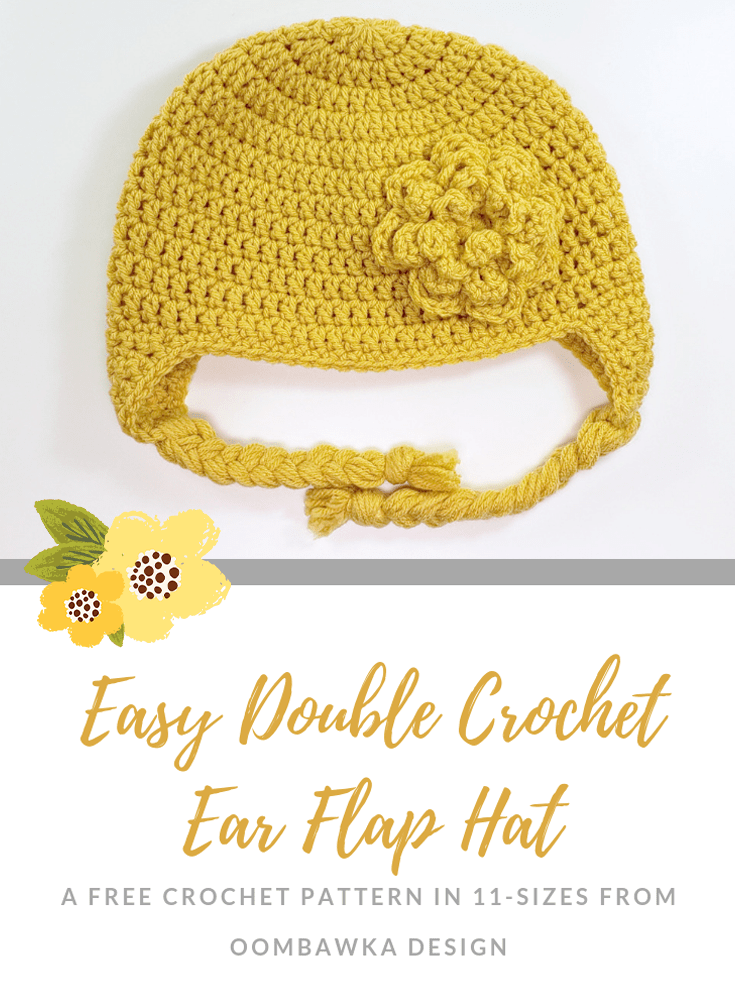 Easy Double Crochet Earflap Hat Pattern 2018 Oombawka Design Crochet 2