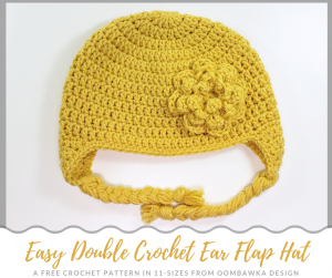 Easy Double Crochet Earflap Hat Pattern 2018 Oombawka Design Crochet