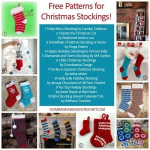 Free Patterns for Christmas Stockings at Oombawka Design Crochet