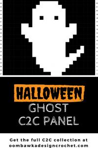 Halloween Ghost C2C Aghan Panel by oombawkadesigncrochet