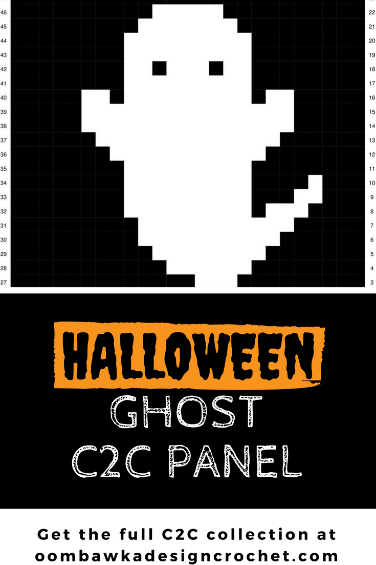 Halloween Ghost C2C Crochet Panel