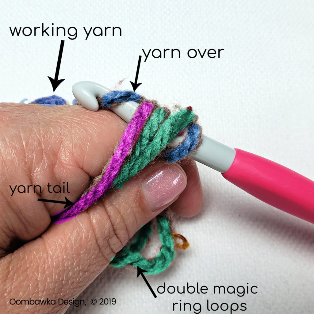 Step 5 Double Magic Ring tutorial