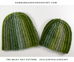 The Bulky Hat Pattern. Crochet Hat Worked Flat #CALCentralCrochet