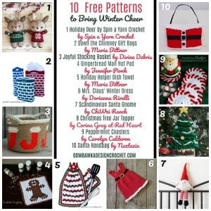 10 Free Patterns to Bring Winter Cheer!