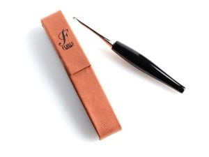 Protect Your Hook on The Go With A Single Leather Crochet Hook Cover