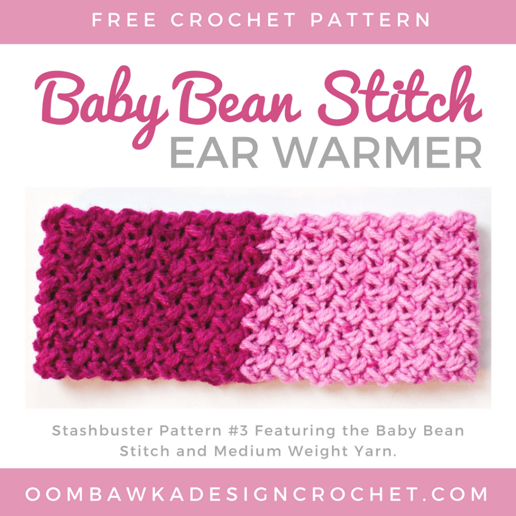 Baby Bean Stitch Ear Warmer Free Pattern ODC