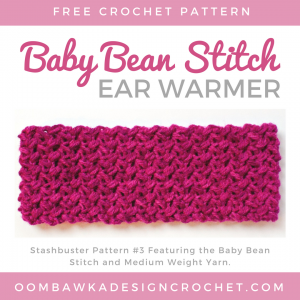 Baby Bean Stitch Ear Warmer ODC Free Pattern