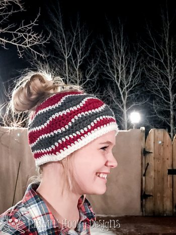 Brain Waves Messy Bun Hat - Liz McQueen - Featured at FCPF - ODC