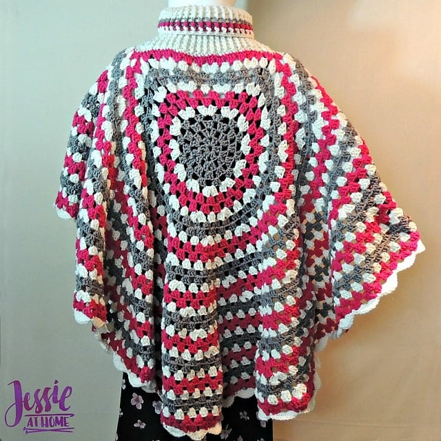 6 Circular Poncho by Jessie Rayot - Featured on Free Pattern Friday at ODC