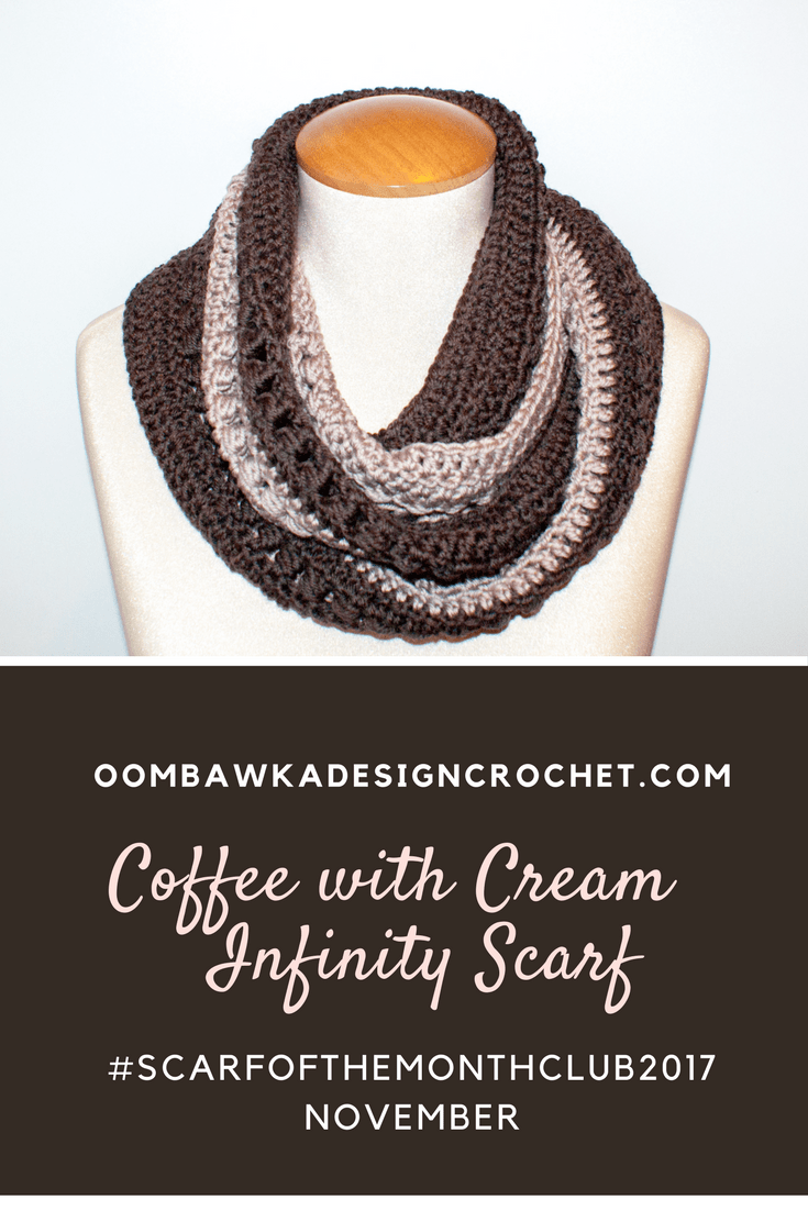 Coffee With Cream Infinity Scarf - November Scarf of the Month Club