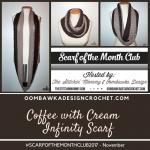 Coffee with Cream Infinity Scarf OombawkaDesign #scarfofthemonthclub2017